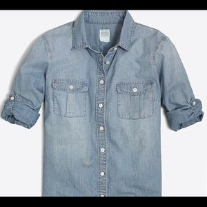 J.Crew Classic Chambray Shirt/Perfect Fit Size Sm